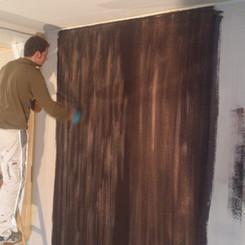 Lackierarbeiten Innenbereich, Wand lackieren, braun, Maler Zieri - Beckenried Nidwalden