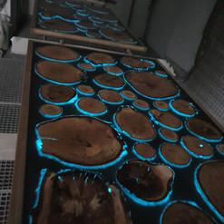 Lackierarbeiten, Fluoreszenz, Neonfarbe, blau, Maler Zieri - Beckenried Nidwalden