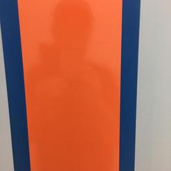 Lackierarbeiten Möbel, Möbel lackieren, orange-blau, Maler Zieri - Beckenried Nidwalden