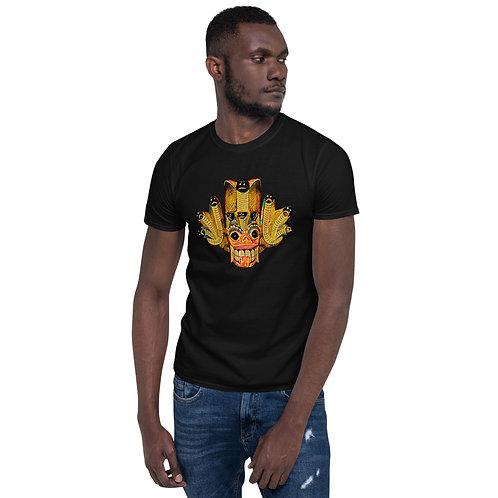 Yellow Mask Short-Sleeve Unisex T-Shirt