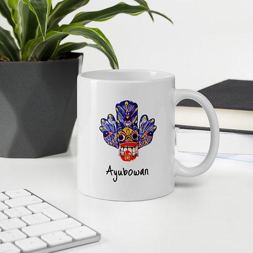 Ayubowan Blue Mask Mug