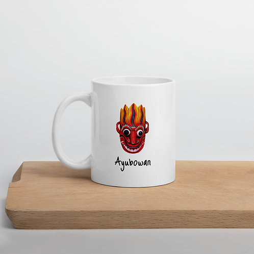 Ayubowan Red Mask Mug