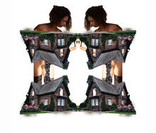 Woman and House