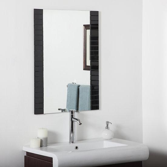 Beveled Bathroom Mirror (black)