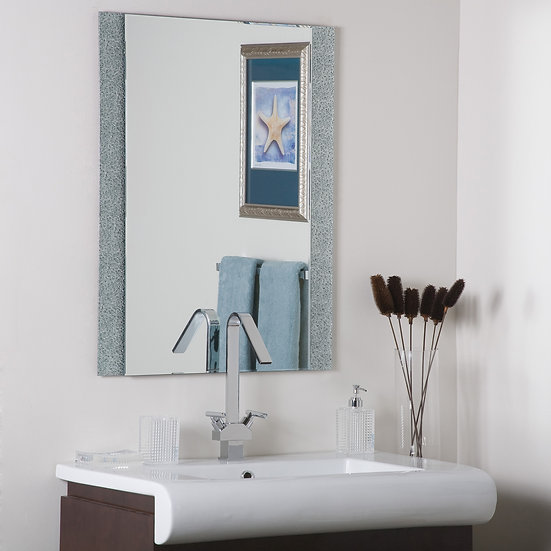 Diamond Dust bathroom mirror