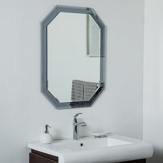 Grella Frameless Wall Mirror 31.5 x 23.6in Bathrooom Mirror