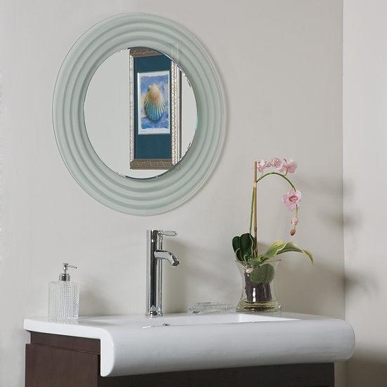 Isabella Round Frameless Bathroom Mirror