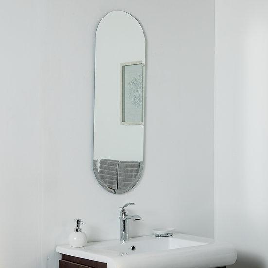 Addy Long Frameless Mirror 39.5 x 13.75in Wall Mirror