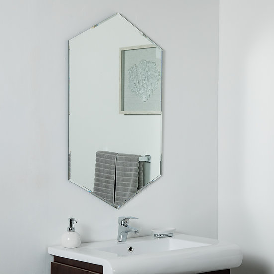 Gal Frameless Mirror 39.5 x 23.6 in Wall Mirror