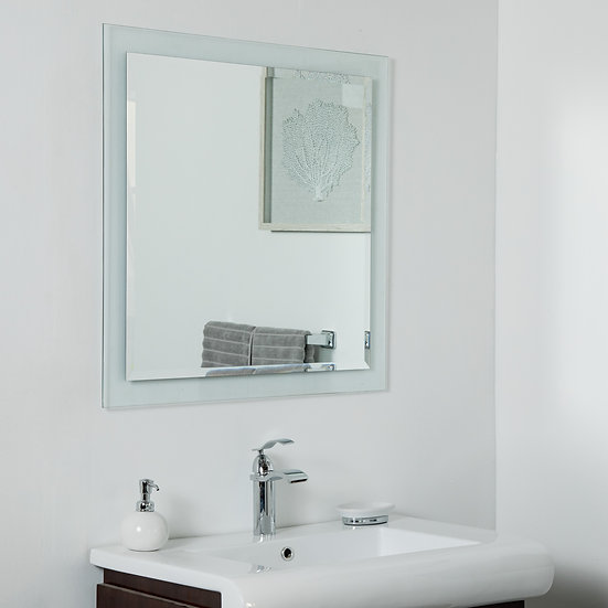 Encore Frameless Mirror 30 x 30in Wall Mirror