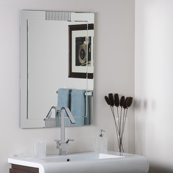 Francisca Large Frameless Wall Mirror