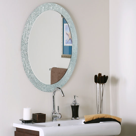 Molten bathroom mirror (Oval)