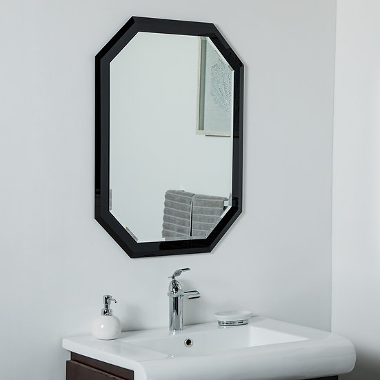 Bella Frameless Wall Mirror 31.5 x 23.6in Bathroom Mirror