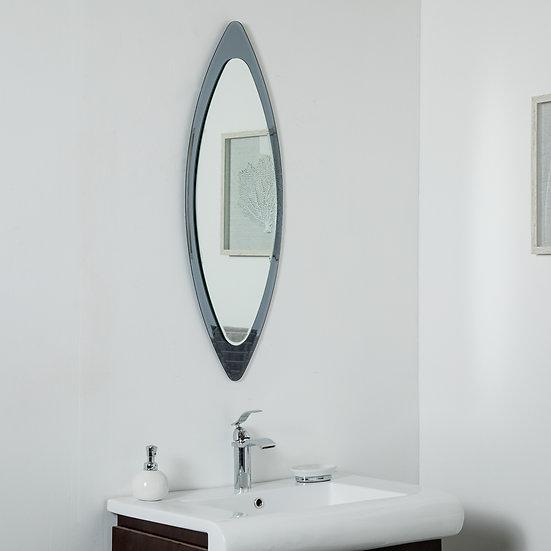 Cat Eye Frameless Wall Mirror 13.75 x 39.5in Mirror