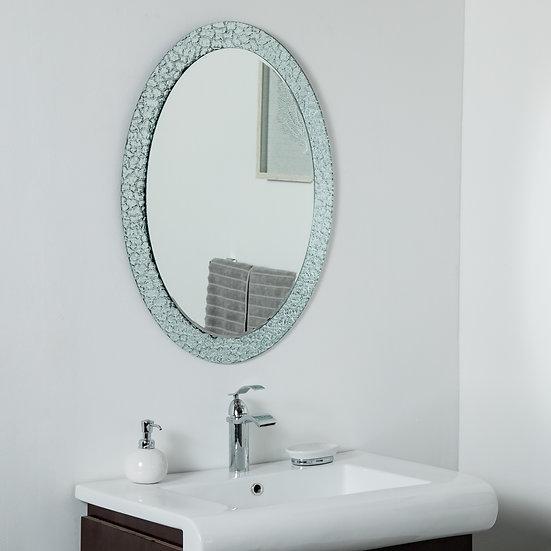 Jewel Oval Frameless Mirror  31.5 x 23.6in Oval Wall Mirror