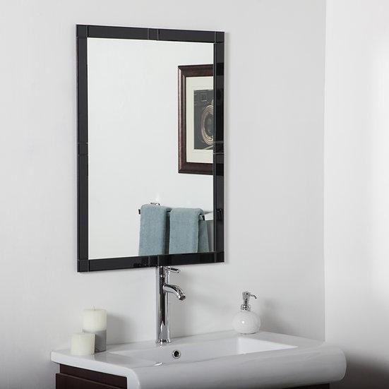 Frameless Beveled Kinana Mirror (Black)