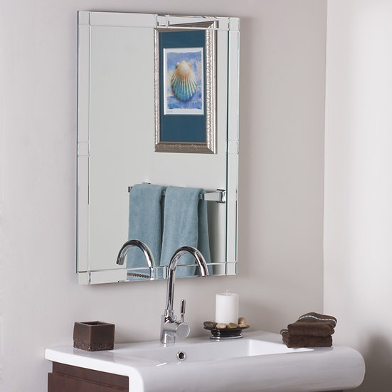 Frameless Beveled Kinana Mirror