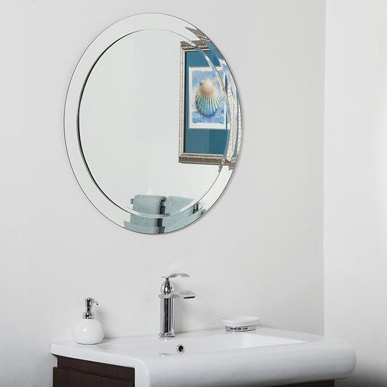 Chase Round Modern Bathroom Mirror 27.5Hx27.5Wx.5D