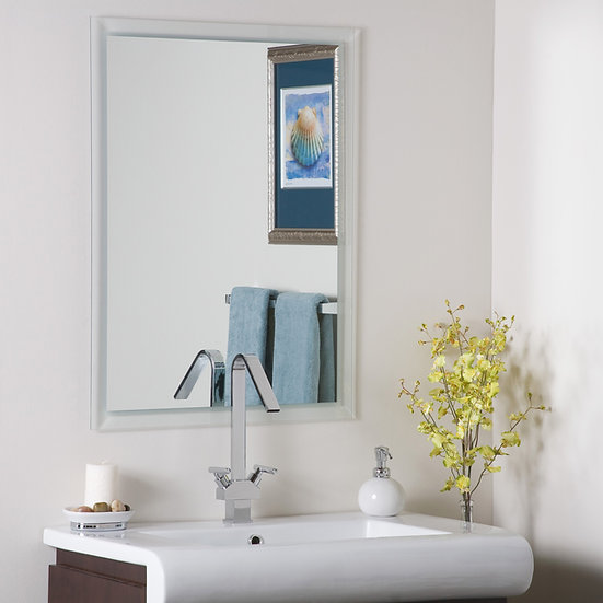 Frameless Etch Border Mirror