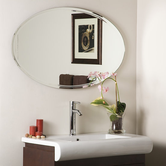 Extra Long Oval Wall Mirror