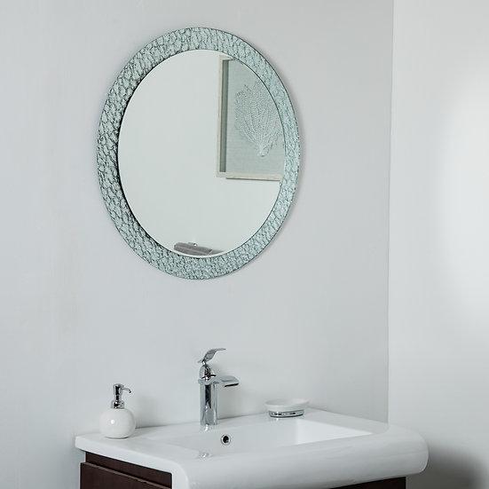Jewel Round Frameless Mirror 27.5in Round Wall Mirror