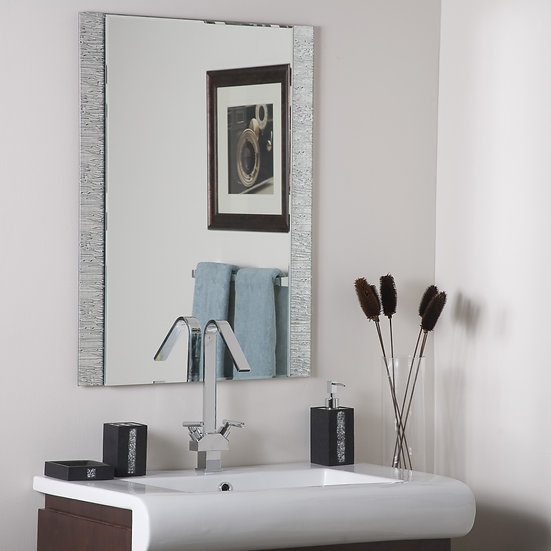 Frameless Molten Wall Mirror