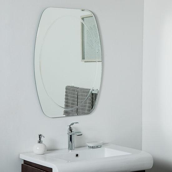 Remiform Frameless Bevel Mirror 31.5 x 23.6 Wall Mirror