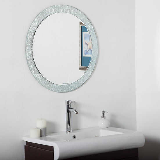 Molten bathroom mirror (round)