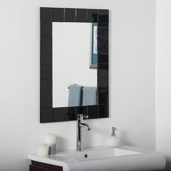 Montreal Modern Bathroom Mirror (Black)