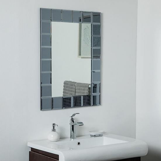SilverLake Large Frameless Mirror 31.5 x 23.6in Wall Mirror