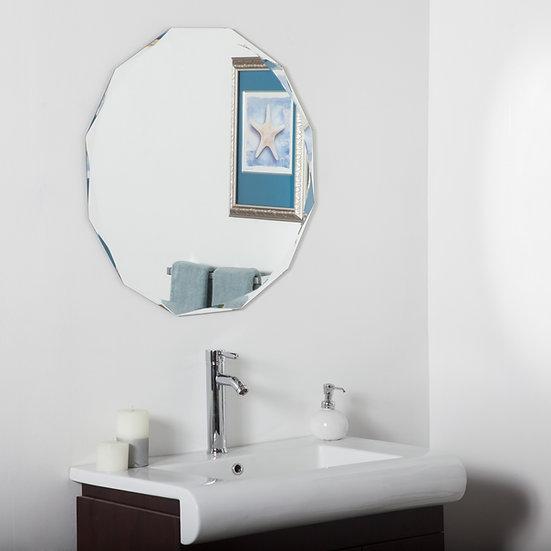Frameless Diamond Wall Mirror 27.6 dia x .5D