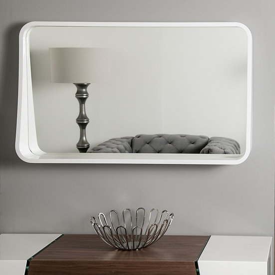 Koi Framed Wall Mirror with Shelf