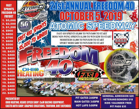 Atomic Speedway Doublehader This Saturday