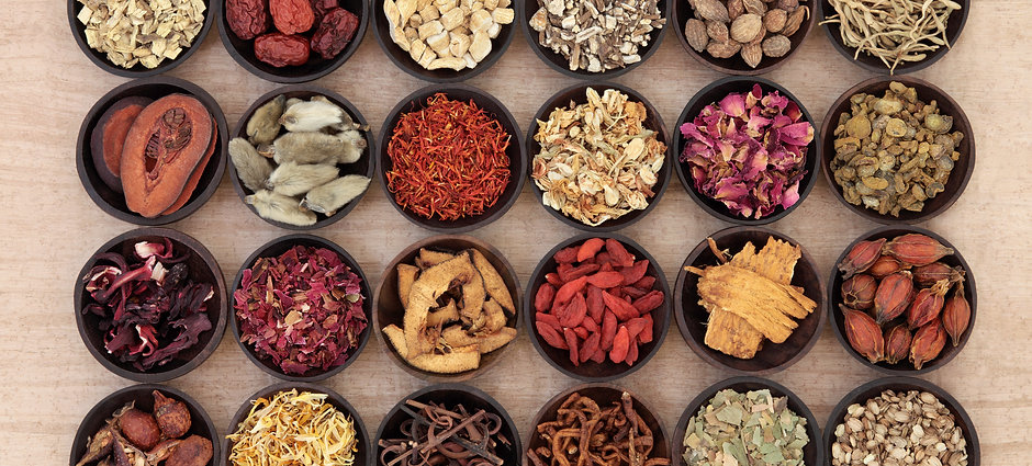 Large chinese herbal medicine selection