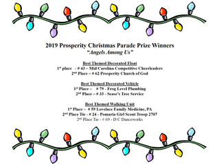 2019 Prosperity Christmas Parade Prize Winners