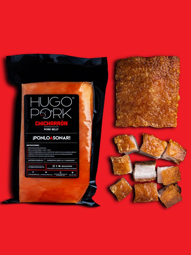 CHICHARRÓN HUGO PORK = chicharrón congelado, pre-cocido y sazonado que preparas en 60-90 minutos. Hornéalo, fríelo, bbq o air fryer #ponloasonar