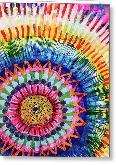 Colorful Watercolor Mandala Resist