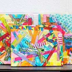 Washi Tape Watercolor Canvas