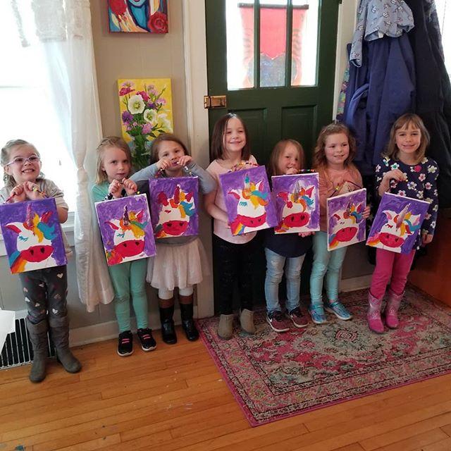 Unicorn Painting Canvas!