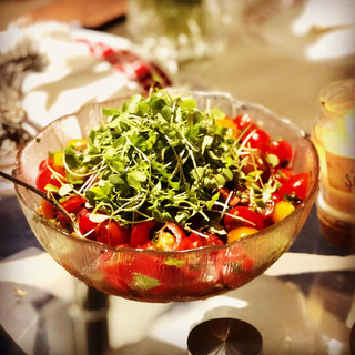 #tomato and #microherbs #salad