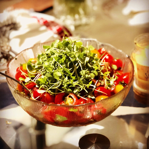 #tomato and #microherbs #salad