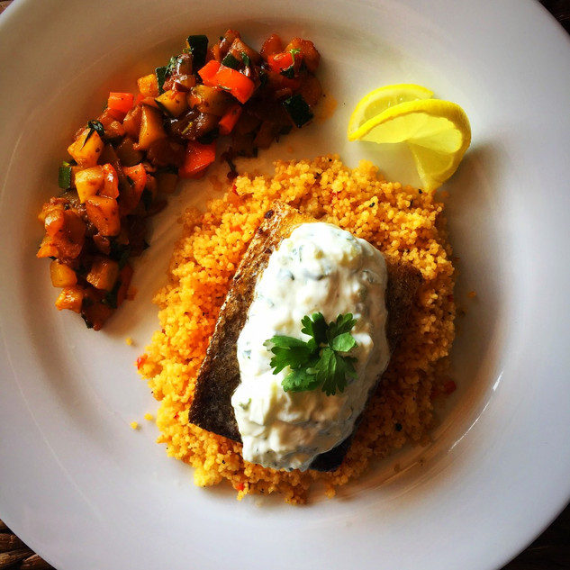 #salmon and #couscous #ratatouille #raita