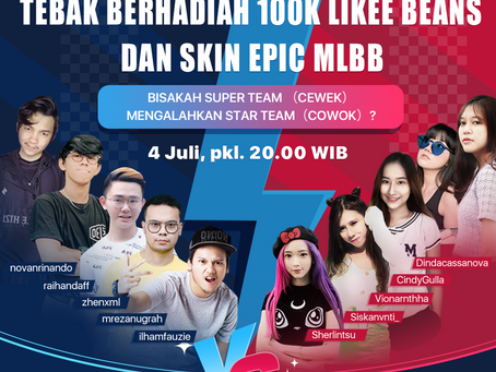 Likee dan Moonton Gelar Pertandingan Mobile Legends: Bang Bang Antar Influencer