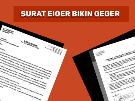 Surat Eiger Bikin Geger