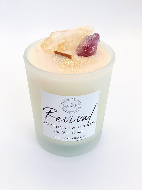 Revival Amethyst + Citrine Candle - 4 oz.