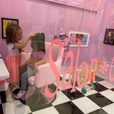 The Salon getting their hair did!