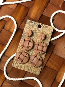 Handmade Basketweave Earrings