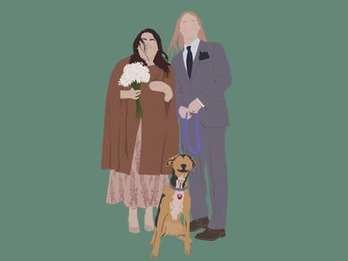 Pandemic Wedding Digital Art
