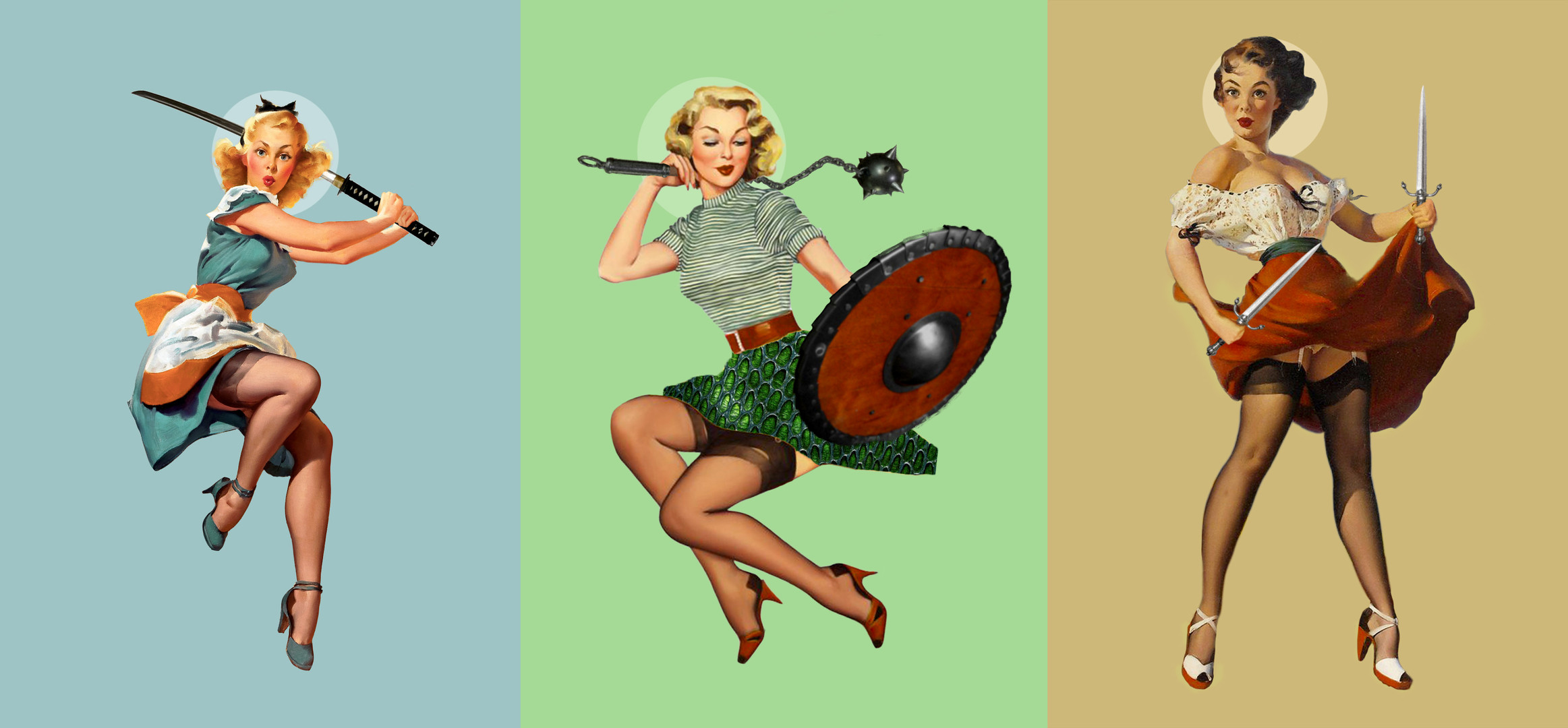 Pinup Warrior Digital Art
