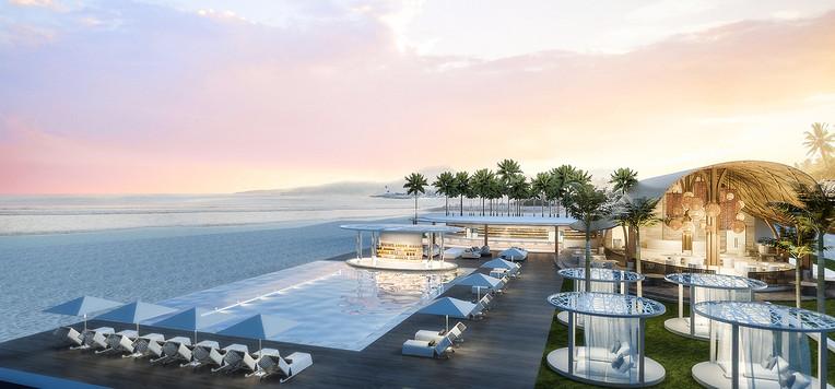 beach bar/ pool area